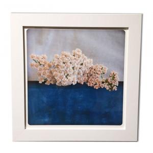 Tableau fleur - Bleu -
