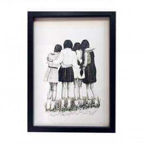 """Affiche """"Les demoiselles"""" encadrée"""