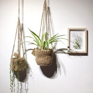 Porte plante en corde de jute