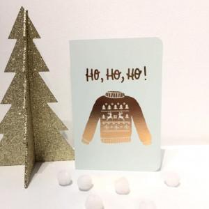 """Carte de Noël """"Ho ho ho"""""""
