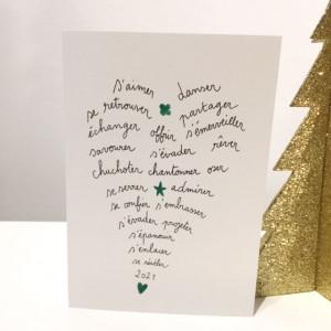 Carte de voeux Coeur de mots