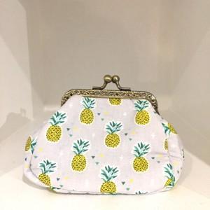 Porte monnaie rétro ananas