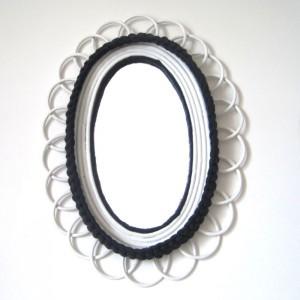 Miroir oval marin