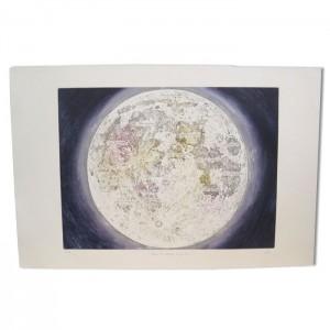 """Grande gravure """"Mers et océans de la lune"""""""