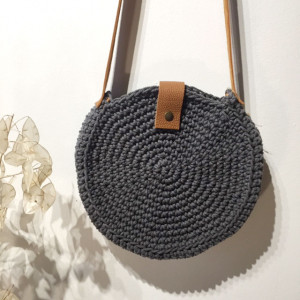 "Sac ""Jeanne"" Corde de coton gris"