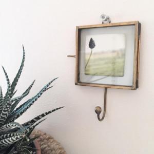 Cadre photo en laiton avec crochet