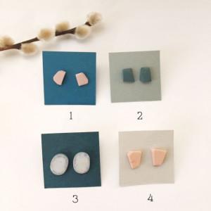 Boucles d'oreilles puces en céramiques