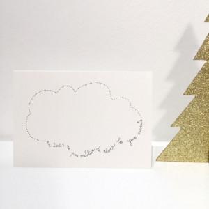 Carte de voeux nuage