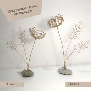 Bouquet en fil de fer