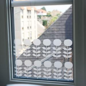 Stickers vitre - Fleurs scandinaves